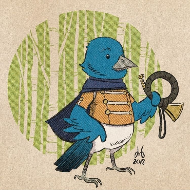 Bird Blue - procreate, debaser, childrensbookillustration - dmbednarski | ello