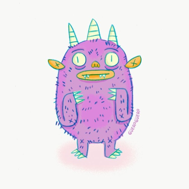 illustration, doodle, digitaldrawing - gueroguero | ello