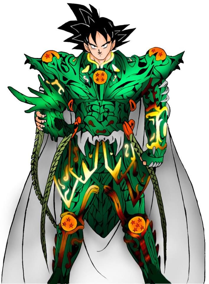 Goku mixed Saint Seiya - Digita - lucas_bandrade | ello