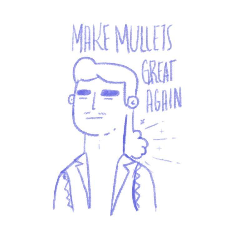 mullets great - illustration, photoshop - maikols | ello