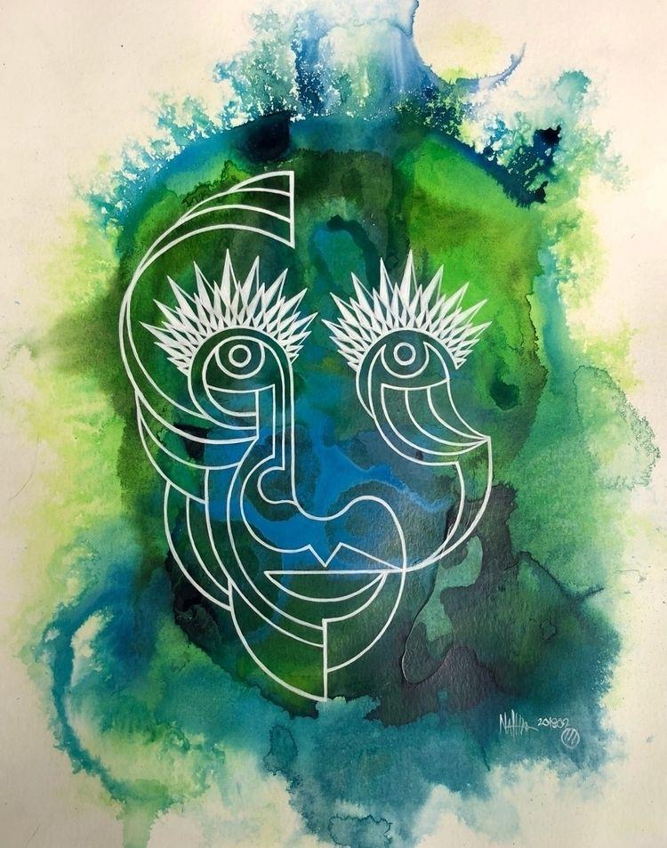 direction - finished, painting, explore - nathanawoodart | ello