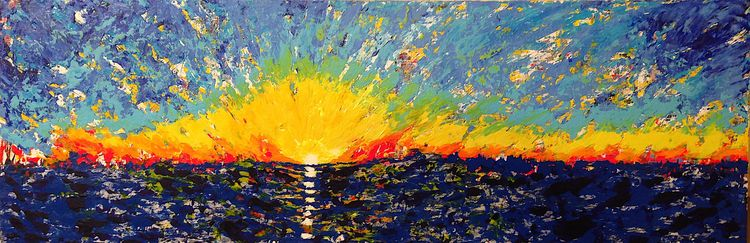 "pacific ocean sunrise 36""x12"" a - nuisms 