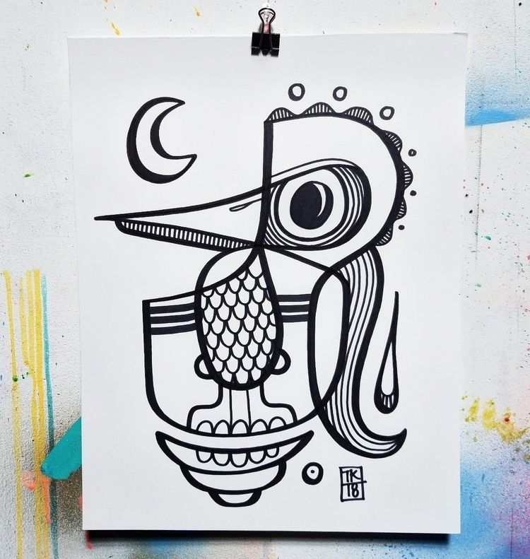 Tribal Mood, 11x14in, ink paper - inkletterman | ello