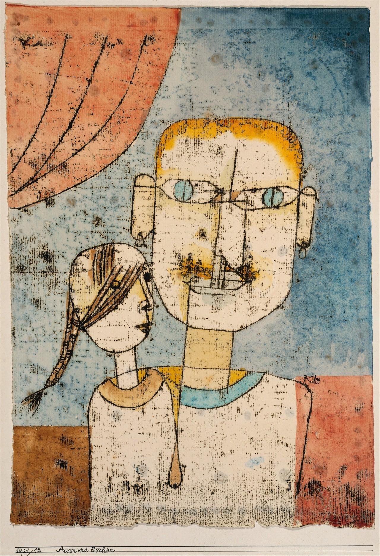 Paul Klee: Adam Eve, 1927 - arthurboehm | ello
