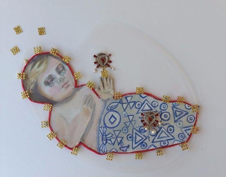 16x24x3 assemblage angela dagos - roxymoxyart | ello
