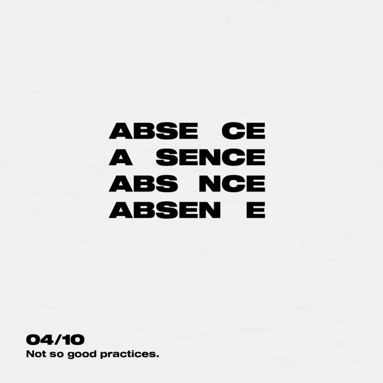 absence, graphic, visual, typography - kent4hd | ello