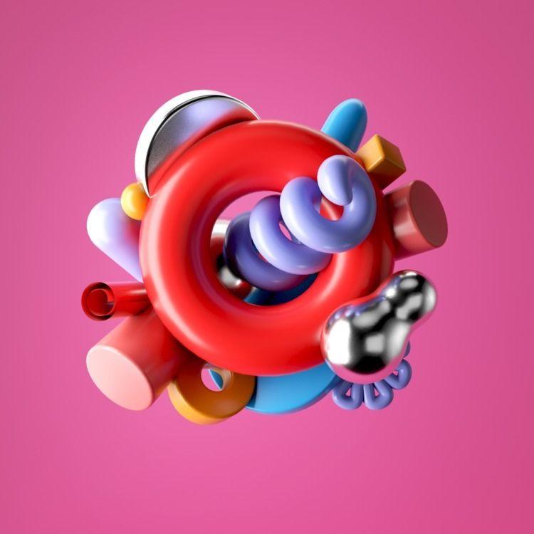 085 - AbstractShiz, cinema4d, design - hashmukh | ello
