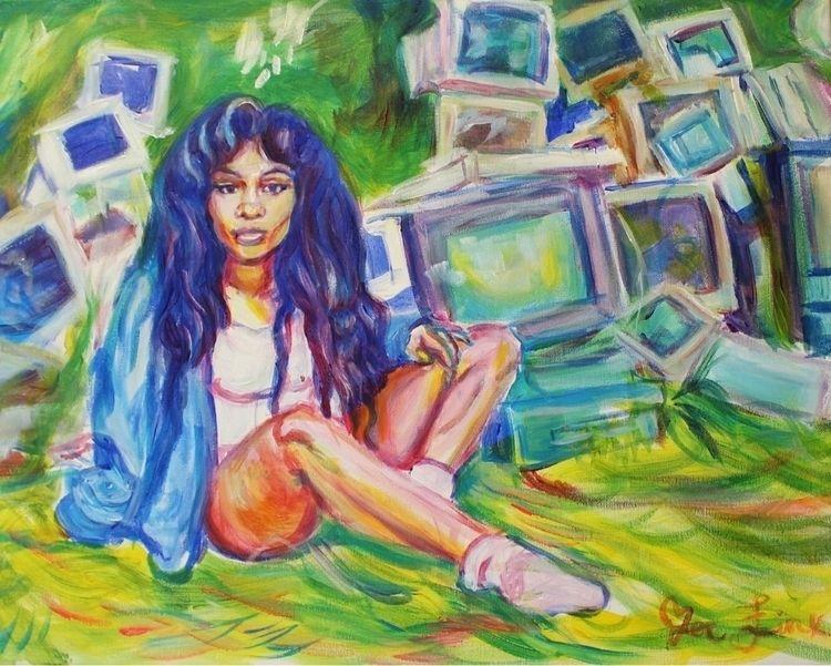 SZA CTRL acrylic painting canva - zoejinx | ello