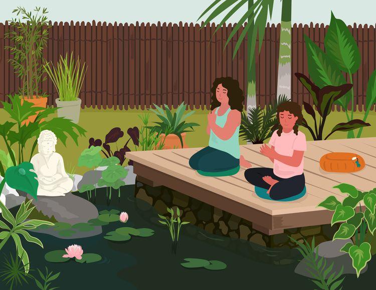 Outdoor Meditation illustration - ysonart | ello