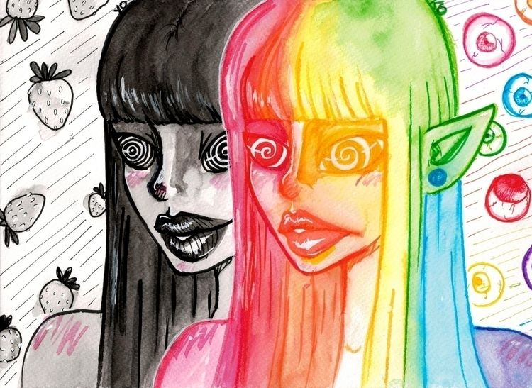 easy... - 12 8 1/2, watercolor  - yokoportfolio | ello