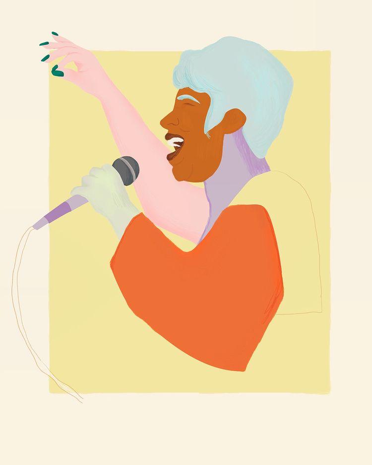 goodbye drawing Aretha! voice m - valeryl   ello
