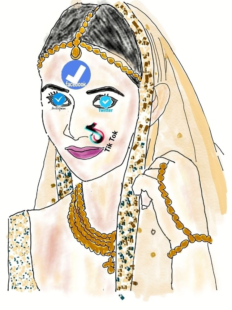 tiktok, bridal, bride, verified - gyanah | ello
