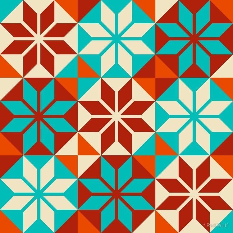 Geometric Pattern: Petal Flower - red_wolf | ello
