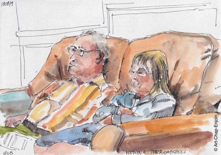 825 - Viewing roadshow sketch n - artchapenjoin | ello