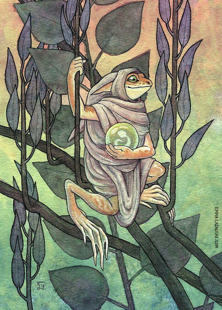 Odd Fae: Frogs 6.25x8.75 inches - levitea   ello