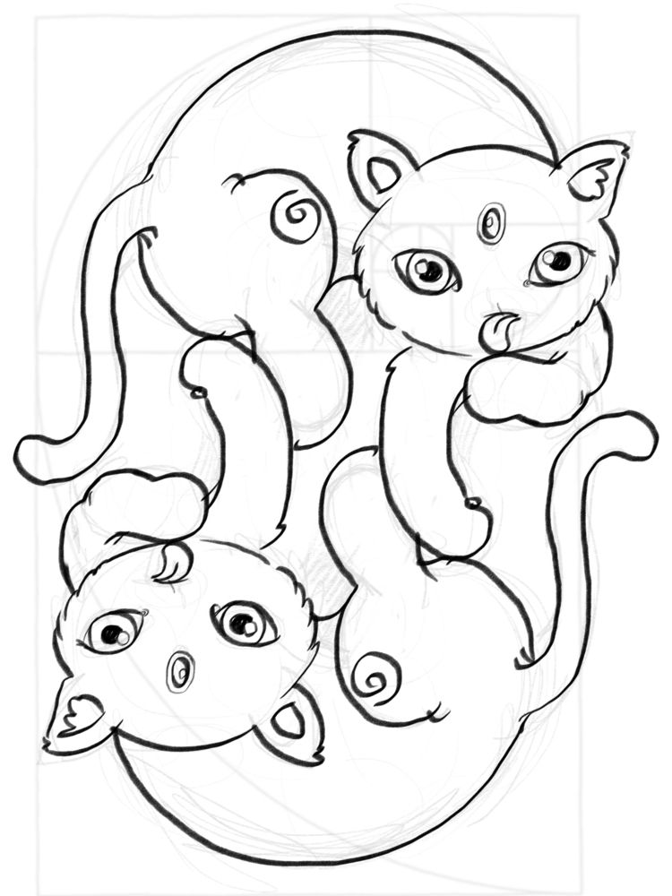 cats <3 - cute, kawaii, twins - smushbox | ello