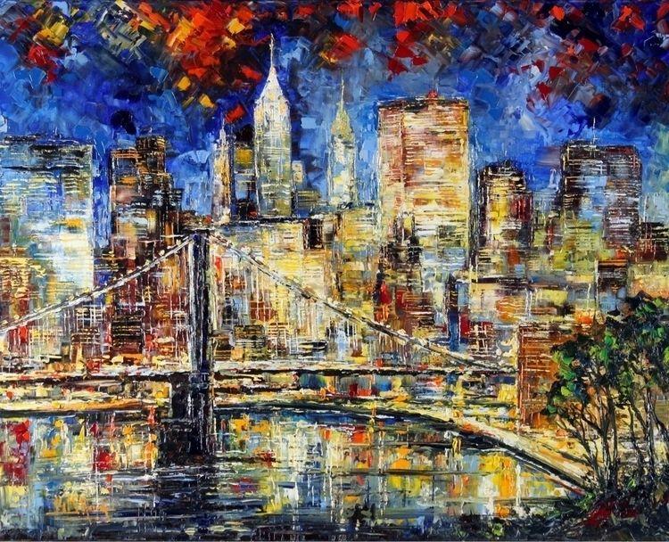 Il Ponte Night Bruno Oil Canvas - bitfactory | ello