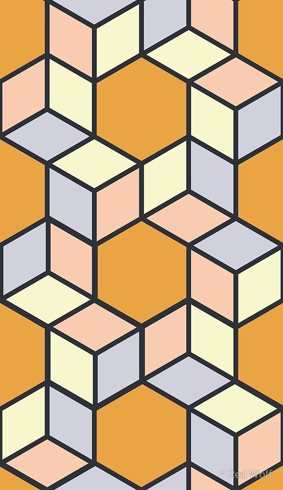 Geometric Pattern: Hexagon Box - red_wolf | ello