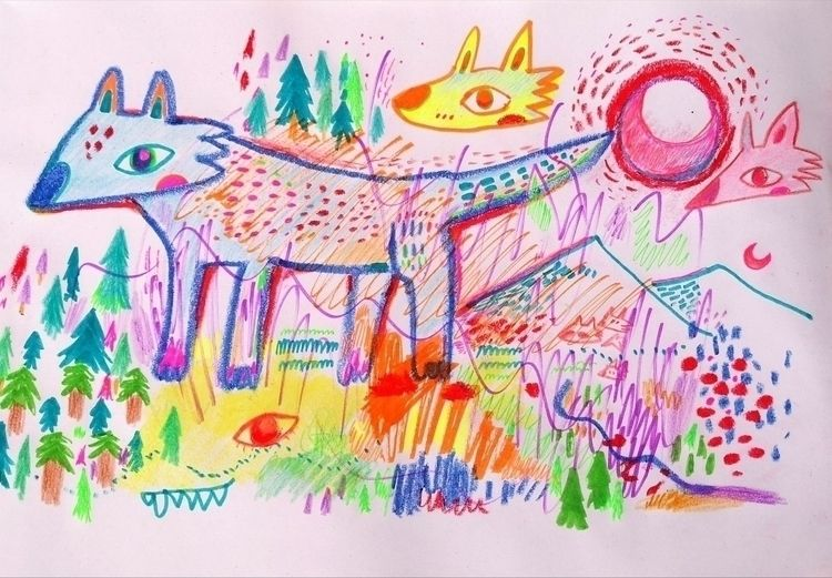 wolves:wolf::wolf::wolf::wolf - drawing - anzooo | ello