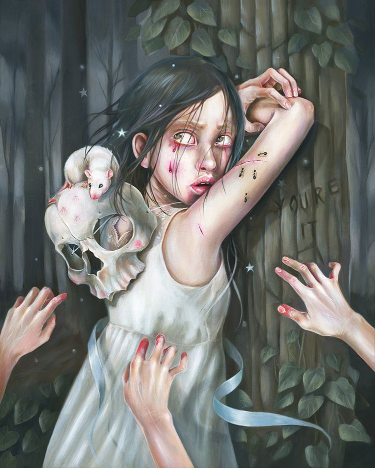 'Playing Games Wolf' Hanna Jaeu - wowxwow | ello