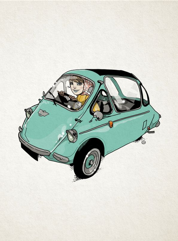 Bubble Car - illustration, drawing - shugmonkey | ello