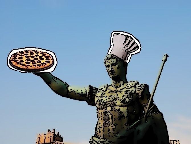 Caesar serving pizza cutting pa - jasonlee3071   ello