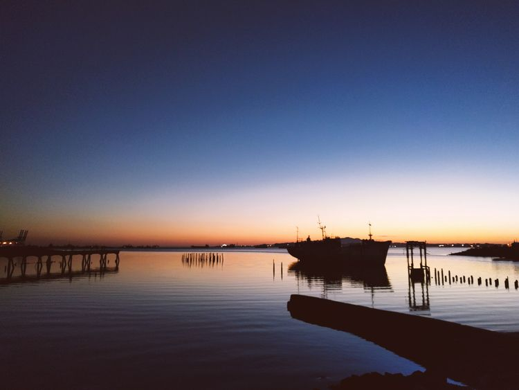 Abandoned sunset - polaroid, ship - fedodes | ello