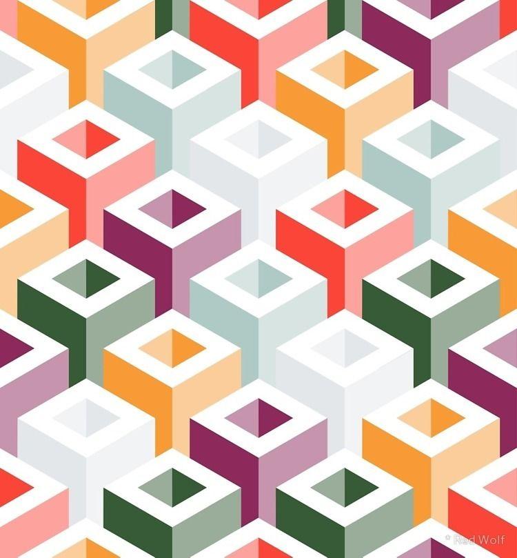 Geometric Pattern: Tube: Summer - red_wolf | ello