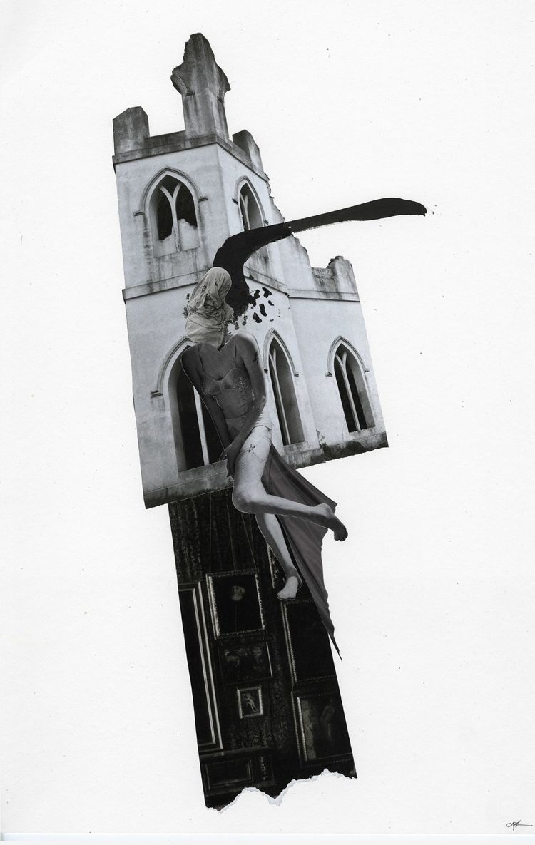 fig. 137 - collage, collageart, penandink - curtispatrickarnold | ello