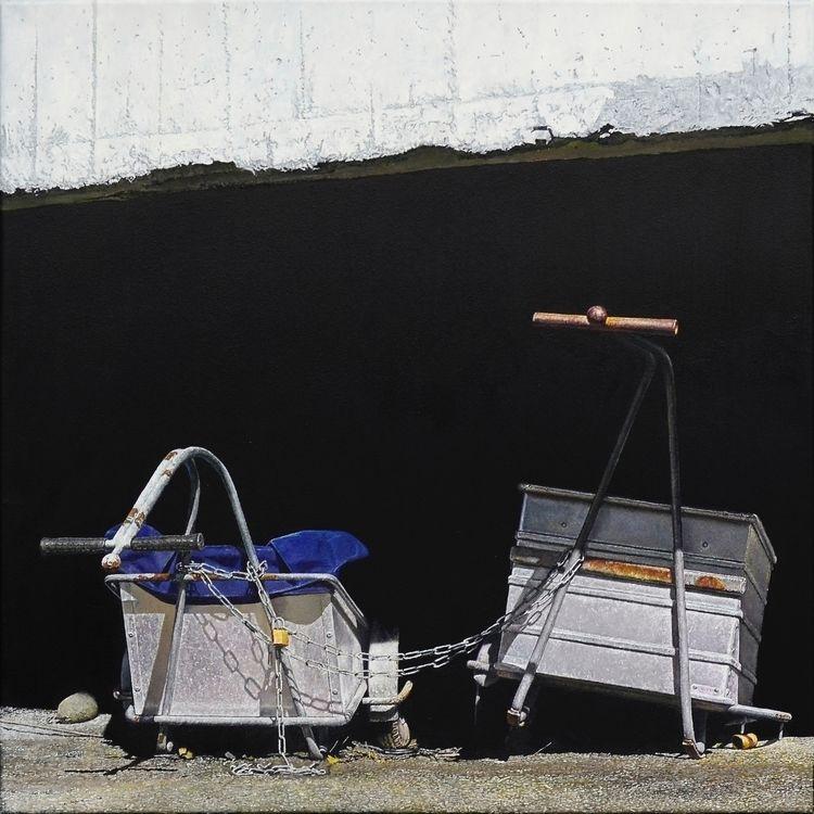 Handcart, 2017, 60 × cm, oil ca - christopheberle | ello
