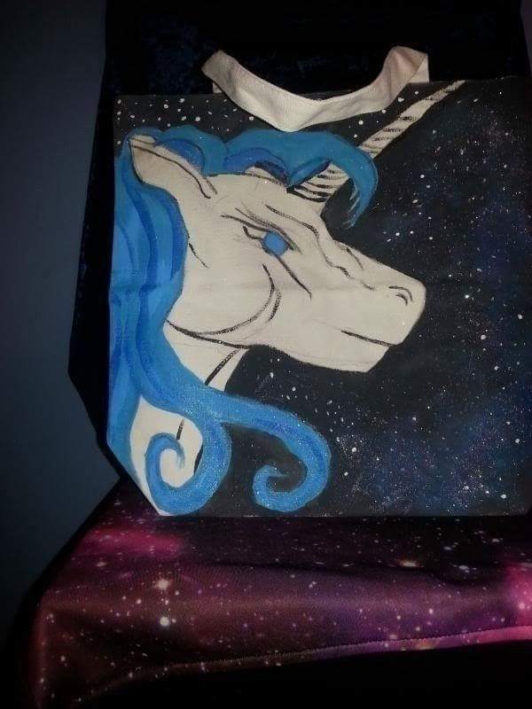 Galaxy Canvas bag - Unicorn, Fashion - alicelefae | ello