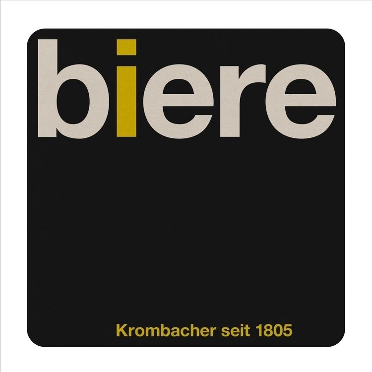 krombacher coaster - design, swiss - kdd | ello