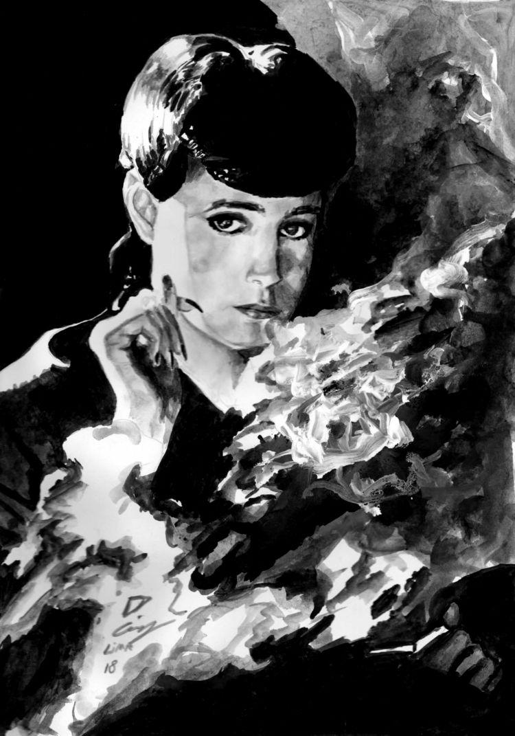 Blade Runner gouache Insta&gt - bladerunner - dcruzlima | ello