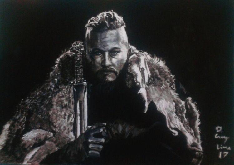 Ragnar Art Gouache Insta - vikings - dcruzlima | ello