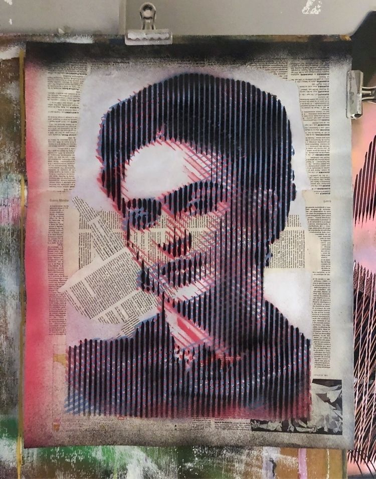 """""""Kahlo"""" . recycled paper, 2018 - cicerospin   ello"""