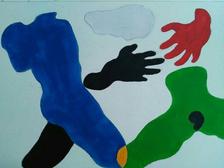 Cloud, acrylic paper - August 2 - charlyhoa | ello