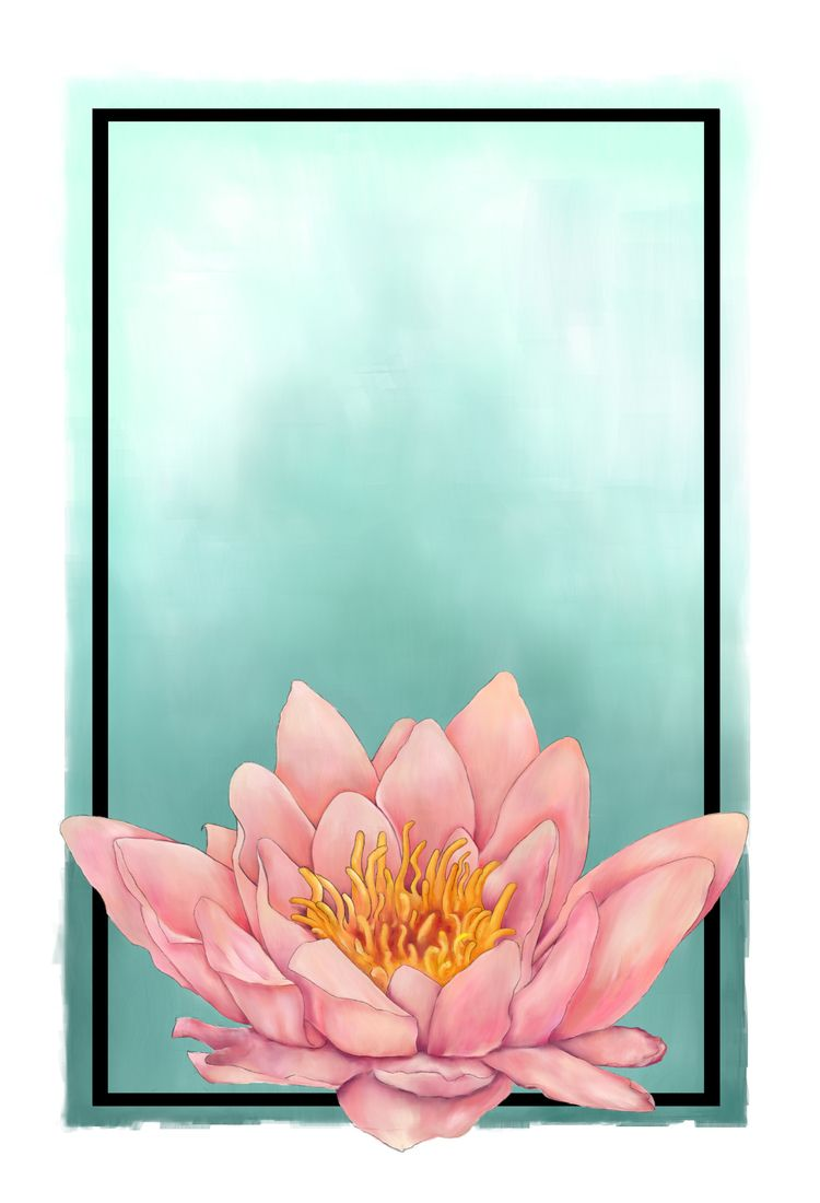 Painted water lily - floral, flower - fickle_muse | ello