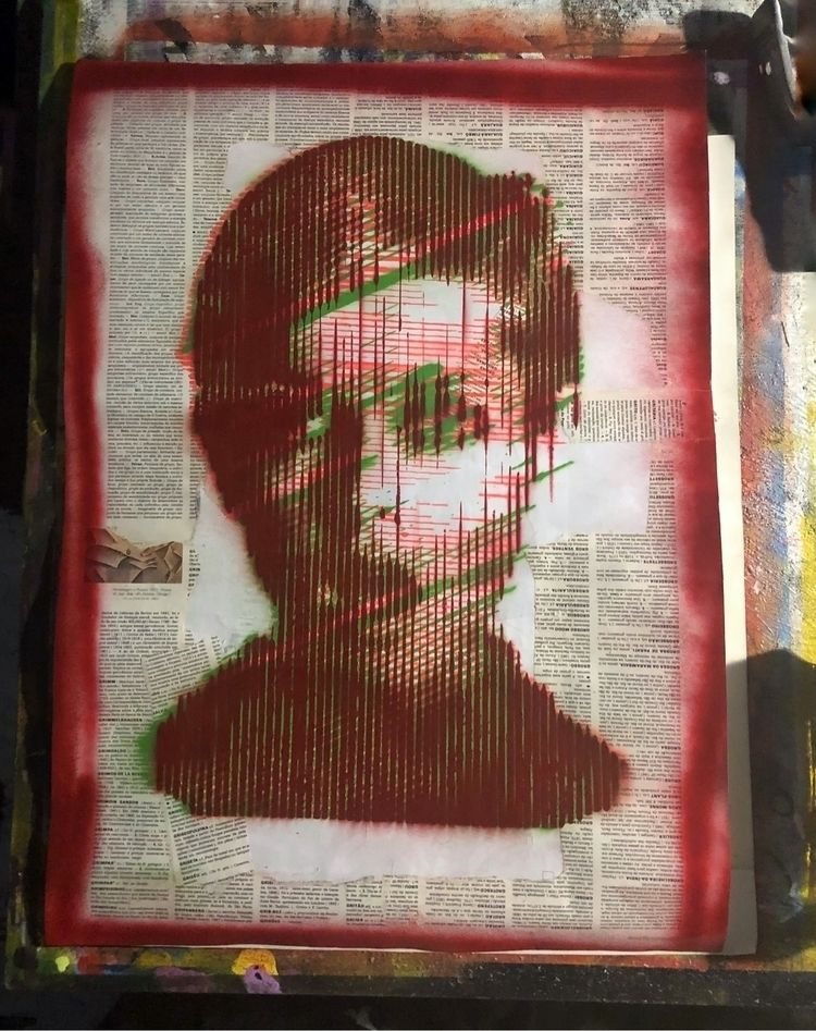 """Glitch Twiggy"" . recycled pape - cicerospin 