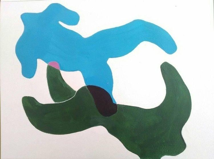 Wave, acrylic paper, August 201 - charlyhoa | ello