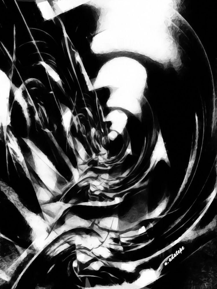 Metro - art, digital, charcoal, blackandwhite - nadatepe | ello