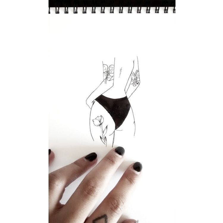 Erotic illustration. tattoo. In - den_rosas | ello