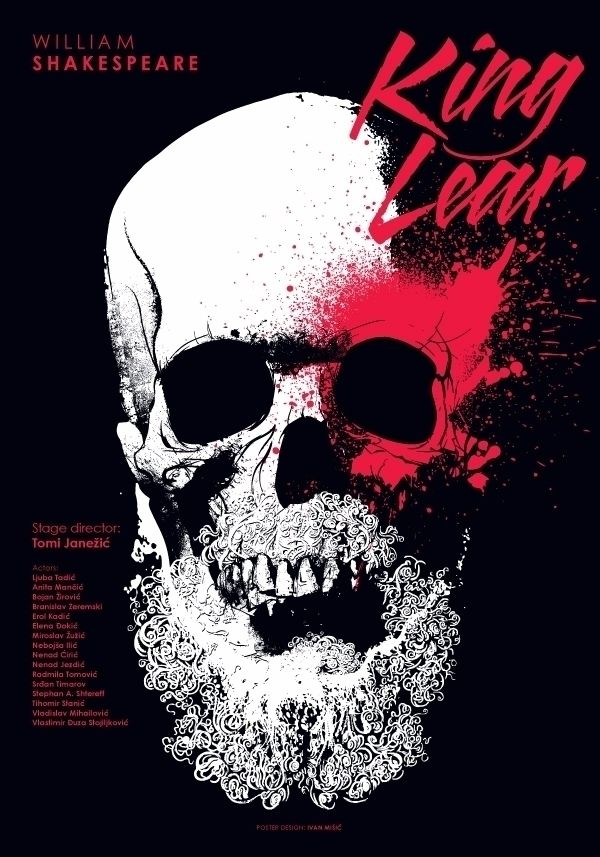 King Lear Poster theater play W - ivanmisic | ello