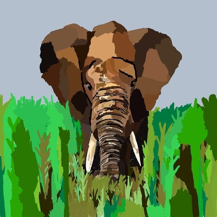 attempt Elephant photoshop - elephant - carysmck | ello