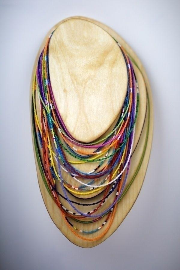 Long Bead Necklace Display (19 - dirkmarwig   ello