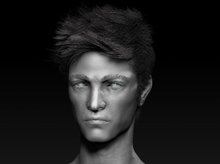 digital sculpt male head Zbrush - jasoncdr | ello