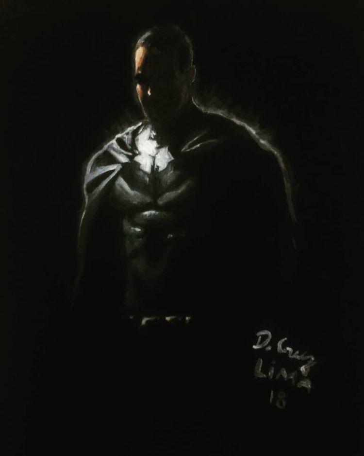 Batman Art gouache Insta - portrait - dcruzlima | ello