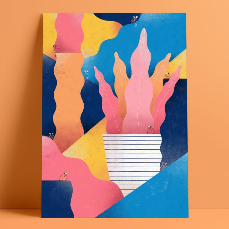 Poster illustration adventurous - carmelacaldart | ello