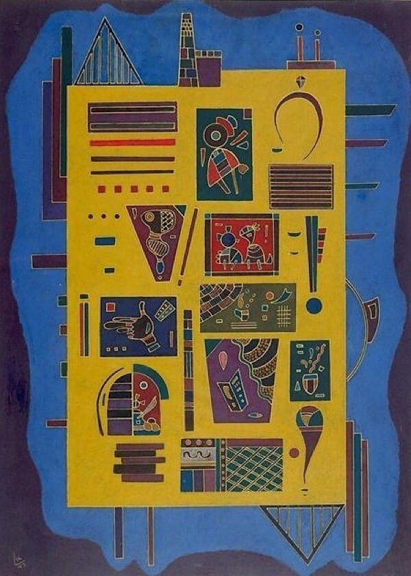Wassily Conglomerat, 1943 - Kandinsky, - bauhaus-movement | ello