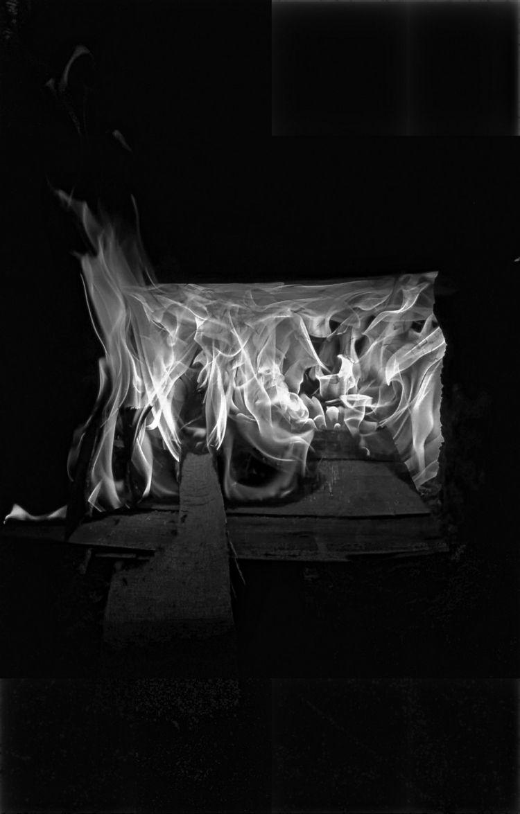 Fire Rises - fire, blackandwhite - mortalworks | ello