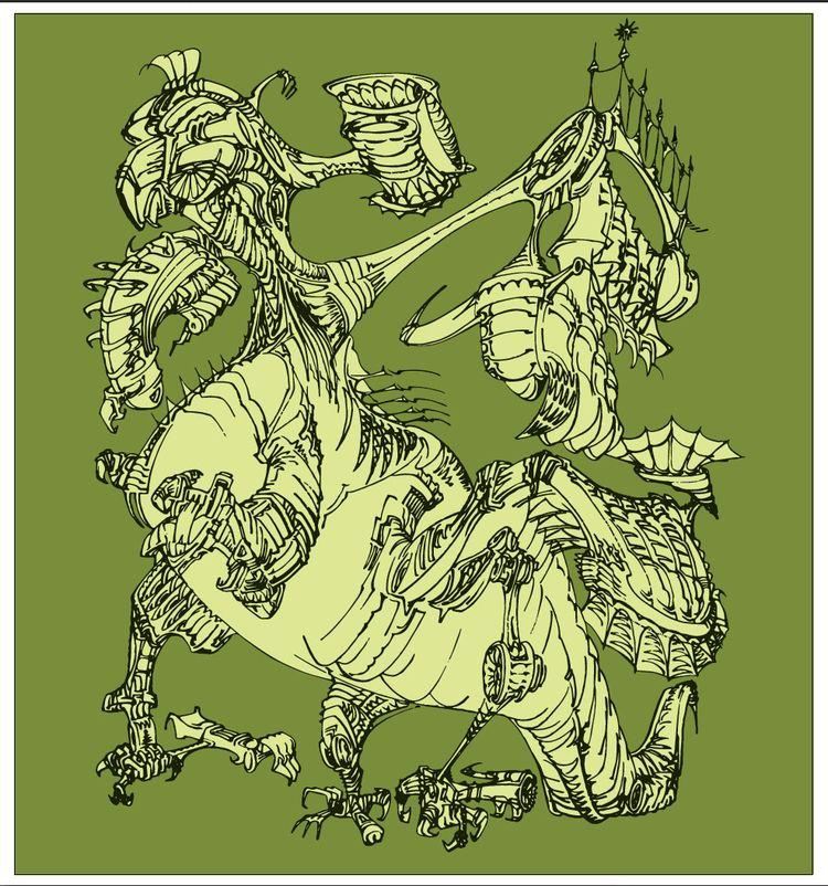 Big lizard awakening, marker dr - grabbo | ello